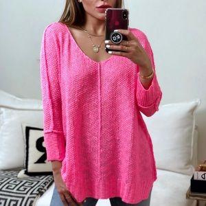 Sweaters - 🆕 SWIFT 2.0 Hi-Lo Folded Cuffs Sweater - PINK